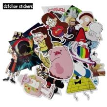 25Pcs/lot Funny Anime Gravity Falls Sticker For Car Laptop Luggage Skateboard Motorcycle Decal Kids Toy Sticker(China)