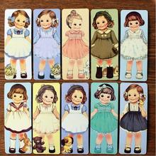 8packs/lot Retro kawaii doll Bookmark Cartoon Cute moppet book marks paper stationery gift office school supplies GT040(China)