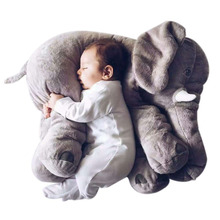 1PC 40CM Infant Soft Appease Elephant Playmate Calm Doll Baby Appease Toys Elephant Pillow Plush Stuffed Doll Toys For Children(China)