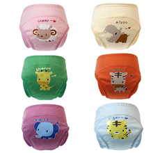 2Pcs New Arrival Baby Diapers Reusable Cloth Nappy Waterproof Newborn Cotton Diaper Washable Children Training Pants Underwear(China)