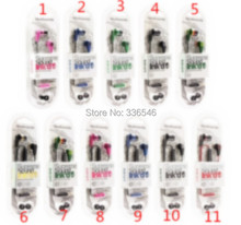 100Pcs/lot Original quality Skull Fashion Headset In-Ear Earphone With Remote Mic For iphone se 5 5S 6s 6 plus Candy 10 Colors(China)