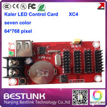 kaler xc4 led control card 64*768 pixel usb port led controller card with hub12 led display panel board electronic led open sign