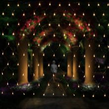 String Lights 2M x 3M 200LEDs Net Mesh Fairy Twinkle flash lamp Home Garden Christmas Wedding Xmas tree Party Garland Decoration(China)