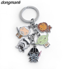 P522 dongmanli New arrival fashion Star Wars Darth Vader Imperial Stormtrooper Yoda Character metal toy keychain key Ring(China)