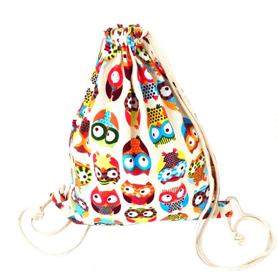 Naivety 2016 Summer New Womens Owl Pattention Canvas Lady Backpack Fashion Package Bag JUN28 drop shipping<br><br>Aliexpress