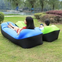 Fast folding sleeping laybag Inflatable Sofa lazy bag Hangout sleep Air Bed Lounger Outdoor air hammock travel air sofa chair(China)