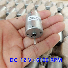 DC Motor High Torque 370 Motor DC 12V 6100rpm Electric DC Brushed Reversible High Speed DC Motor for DIY Driver Parts