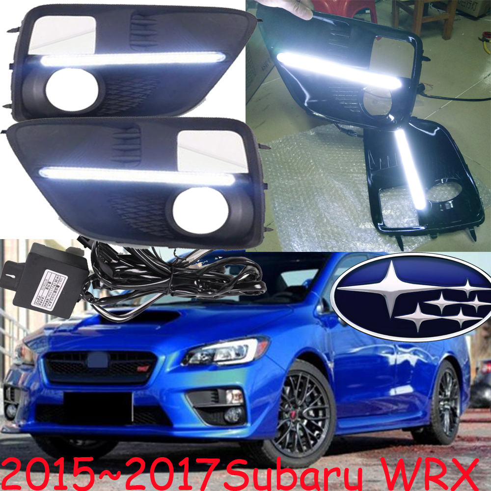 Car-styling,Subar WRX daytime light,2015~2017,chrome,LED,Free ship!2pcs,XV,Tribeca,WRX fog light,IMPREZ,LEGACY,Forester,outback<br>