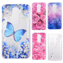 Phone Cases sFor LG Optimus G2 D802 D801 Flowers Rose Plants Butterfly Pattern Clear Soft TPU Back Cover for LG G 2 5.2""