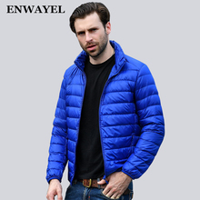ENWAYEL Spring Autumn Thin 95% White Duck Down Jacket Men Casual Ultralight Male Feather Jackets Coat Ultra Light Lightweight(China)