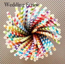 25pcs/pack Colorful Drinking Paper Straws Striped Polka Dot Paper Straws Birthday Party Decoration Kids Special Products