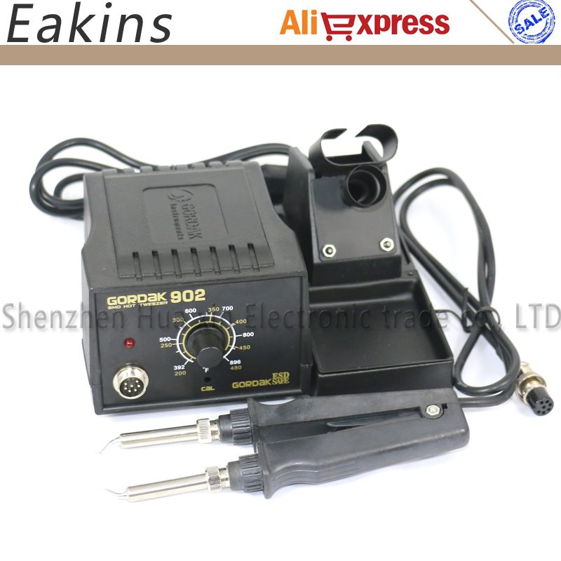 GORDAK 902 ESD SMD Soldering Tweezer Repair Rework Station Electric heating pliers Constant temperature heating tweezers 220V<br>