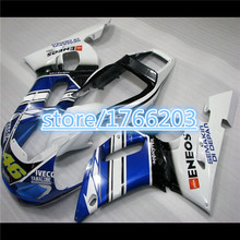 ABS  fairing kit for  YZF 98 99 00 01 02 R6 YZFR6 1998 1999 2000 2001 2002 blue white black YZF R6 98-02  full fairingsBBF