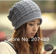 ladies's men's fashion check ear protect knitted hat Beanies Cap Autumn Spring Winter multi color option whcn+