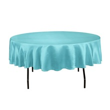 Fedex IE 90 in. Round Satin Tablecloth turquoise for Ceremony, 20/Pack(China)