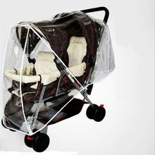 Twin Stroller Cover Wind Cap Before And After The Double About Environmental Tasteless Cart Rain Cover LMY088