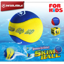 Winmax Funny Swimming pool Toy Balls Bounces on Water Skim Ball Water Proof Skimming Silicone Water Bouncing Ball