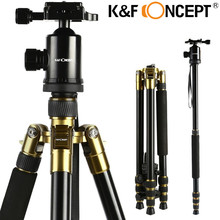 K&F CONCEPT Camera Tripod TM2534 Portable 4-Sections Travel Tripod Monopod Kit+ Ball Head Universal for Nikon/Canon/Sony DSLR(China)