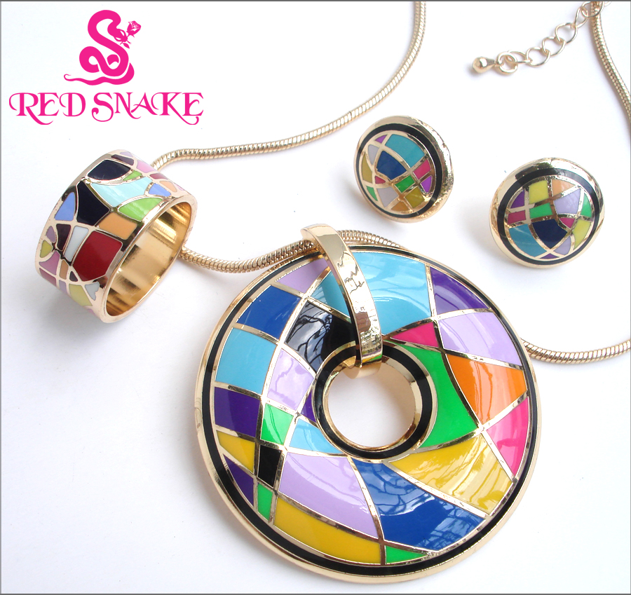 RED SNAKE Great Discounts! fashion color Brand Product Zinc Alloy Enamel Jewelry Set,1set(necklace,bracelet,earrings,ring)Hurry!