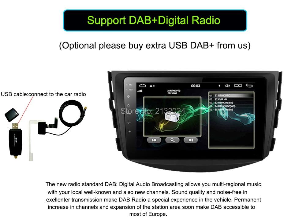 Android 6.0 Car GPS Navigation for Toyota RAV4 2006 2007 2008 2009 2010 2011 2012 Car DVD Player Cortex A7 Quad Core 16GB