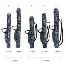 FDDL Portable  Fishing Tackle Case Fishing Bags Protable   2-3 Layer Folding Fishing Rod Bag Case Tools  1.2m 1.3m 1.5m