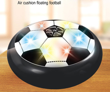 Kids Air Power Soccer Football Sport Children Toys Training Football Indoor Outdoor Hover Ball with Foam Bumpers and LED Light(China)