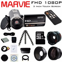"Marvie 3.0"" LCD Touch Screen 24MP Remote Control Video Camera 1080P FHD Camcorder Recorder DV Night-Shot 16X Digital Zoom 302S"