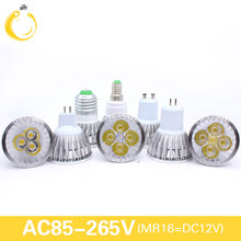 Ultra Bright E27 led light dimmable 9w 12W 15W 85~265V GU10 LED Bulbs led Spotlight DC12V MR16 led Lamp CE/RoHS Warm/Cool White
