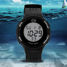 CU new LED multifunction ladies casual watches men's 30 meters waterproof sports watch male and female students