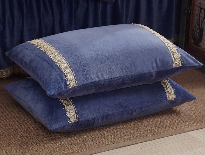 3Pcs Fleece Bed Skirt Set W/ Pillowcases, Mattress Protective Cover 43
