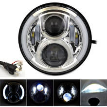 "BJMOTO Daymaker Generation Head light Harley 7"" Led Headlight Motorcycle H4 H13 DRL Motorbike Projector Headlamp for Harley"