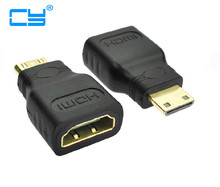 1pcs MINI HDMI Male to HDMI Female adapter for Tablet PC DV Sony Cannon MP4 N8 ARCHOS 701 101