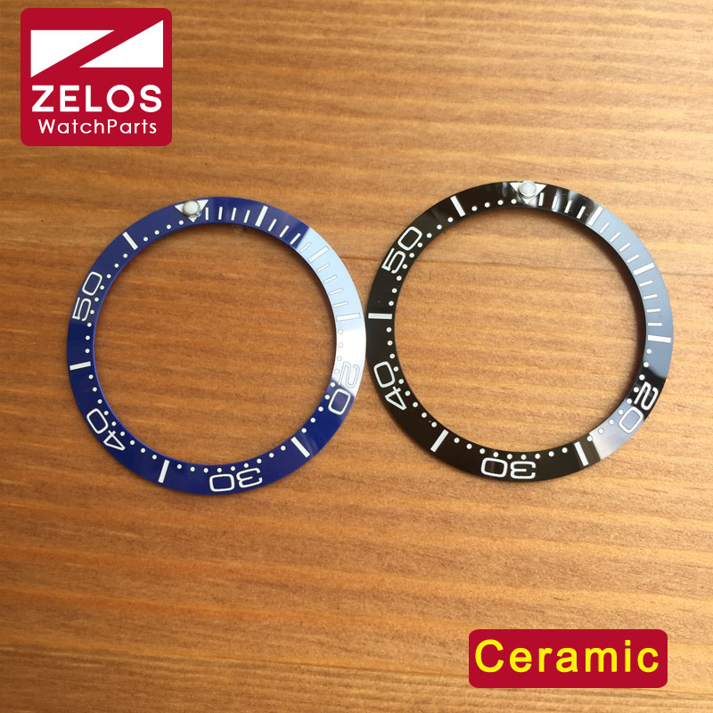 38mm high quality ceramic OMG watch bezel inserts for OMG sea-master planet ocean 007 automatic watch parts 212.30.41.20.01.003<br><br>Aliexpress