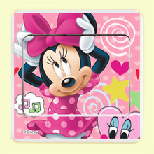lovely minnie mouse switch stickers diy wall decals art peel and stick