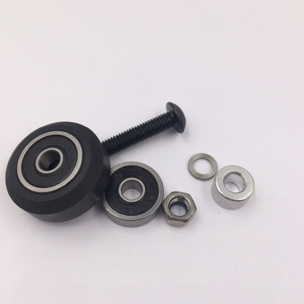 High tolerance CNC solid v wheel kit for v-slot Delrin precise linear guide 20set/lot POM V slot Wheel Free shipping<br><br>Aliexpress