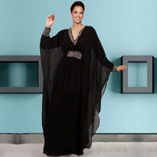 Beautiful Black Long Sleeve Evening Dresses Party Kaftan Women Dubai Custom Made Formal Evening Gowns Dresses on Sale