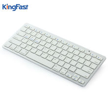 KINGFAST Portable Ultra Thin Slim Metal Bluetooth Wireless Keyboard for Apple Macbook Pro iMac iPad Tablet PC Laptop Computer(China)