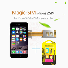 Magic-SIM Dual 2 Sim Card Adapter Slot Single Standby Signal Boosters For iPhone 5 /5s /5c /6 /6s /6plus /6s plus