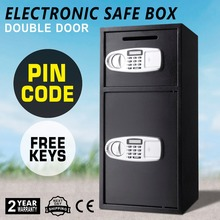 Free Shipping VEVOR Security Safe Box Double Door Digital Safe Depository for Money Gun Jewelry