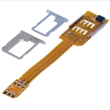 Smartphone SIM Card Adapter For iPhone 5 5S 5C 6 Portable Dual SIM Card Adapter Converer Single Standby Flex Cable Ribbon 1PC