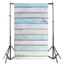 ETC-3x5ft Light Blue Wood Wall Floor Backdrop Backgrounds Studio Photography Props(China)