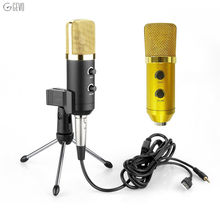 MK-F100TL Condenser Microphone 3.5mm Recording USB Mikrofon Built In Reverb Chip For Computer Recording Singing Podcast Karaoke