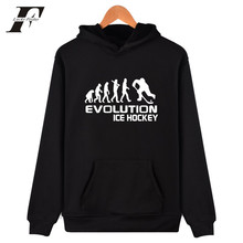LUCKYFRIDAYF Evolution Of Ice Hockeyer hoodies 2017 Fashion men Clothing Hooded Sweatshirt Hoodies Plus Size XXXXL(China)
