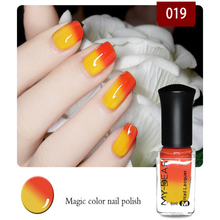 Hot Sale Pregnant women,children all can use non-toxic and tasteless water-based nail polish can tear variable color temperature