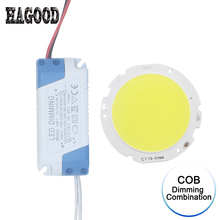 1Set dimmable plastic driver power supply transformer+COB light source For replace Eagle Eye Light Bulb dimming brightness(China)