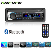 Onever Autoradio Car Radio 12V Bluetooth Car Stereo In-dash 1 Din FM Aux Input Receiver SD USB MP3 MMC WMA Car Radio Player(China)