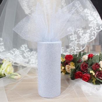 Glitter Shimmering Tulle Roll Wedding Tulle Rolls Gift Bow Carft Tutu Shirt Wedding Decoration Christmas Decorations for Home