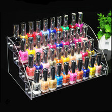 4 Tiers Clear Makeup Cosmetic Acrylic Organizer Lipstick Jewelry Display Stand Holder Nail Polish Rack 31*18*14CM(China)