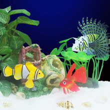 Aquarium fish tank rockery aquarium landscaping plants aquarium decorations Fish aquarium Supplie Gift Color Random 1(China)