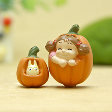 My Neighbor Totoro Mini Figures Toys DIY Pumpkin White Totoro & Mei PVC Action Figure Model Toy Micro Landscape for Garden Decor(China)